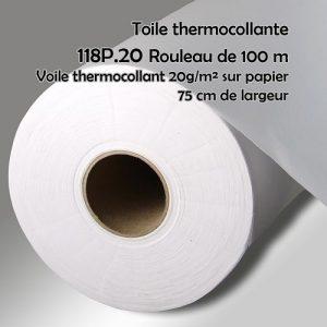 Rouleau 100 m voile thermocollant sur papier 75 cm