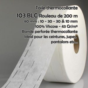 Rouleau 200 m bande perfo thermocollante 10x30x30