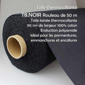 Rouleau 50 m tissé thermocollant 90 cm 100% coton