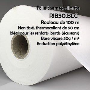 Rouleau 100 m nontissé thermocollant blanc 90 cm