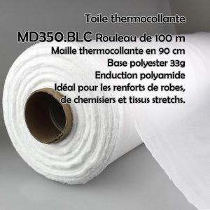 Rouleau 100 M maille thermocollante 90 cm blanc