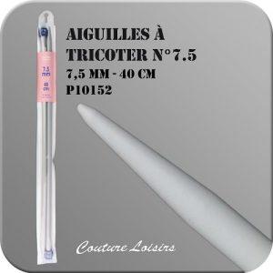 Aiguilles à tricoter – 40cm – n°7.5 – plastique