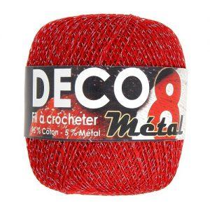 Fil à crocheter 6 pelotes 100 gr – 95% coton 5% métal à crocheter