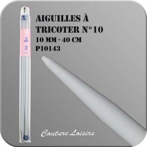 Aiguilles à tricoter – 40 cm – n°10 – plastique