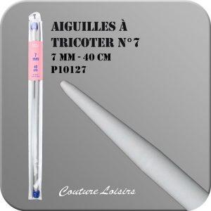 Aiguilles à tricoter – 40cm – n°7 – plastique