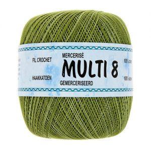 Fil à crocheter 6 pelotes 100gr multicolor – 100% Coton MULTI 8