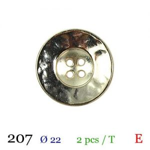 Tube 2 boutons ref : 207