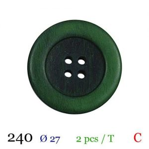 Tube 2 boutons ref : 240