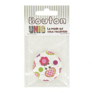Carte 1 bouton bois  Ø 38 mm – C