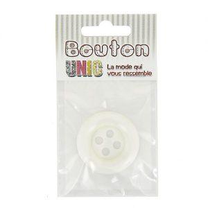Carte 1 bouton clown blanc Ø 38 mm – A