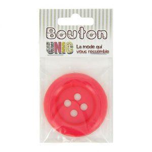 Carte 1 bouton clown fuchsia Ø 54 mm – B