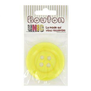 Carte 1 bouton clown  jaune Ø 54 mm – B
