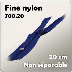 Fermeture nylon 20 cm – code prix A