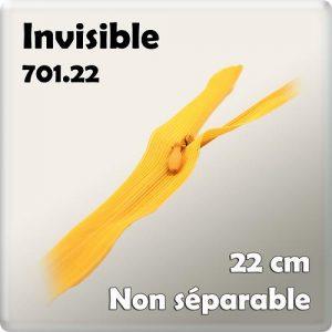 Fermeture invisible 22 cm – code prix G