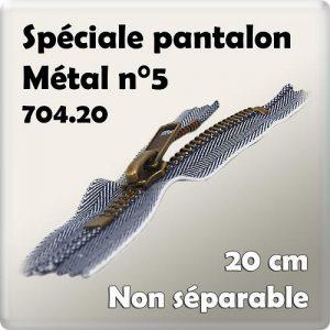 Fermeture pantalon n°5-20 cm- code prix I