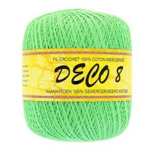 6 pelotes 100 gr – 100% coton à crocheter couleur DECO 8