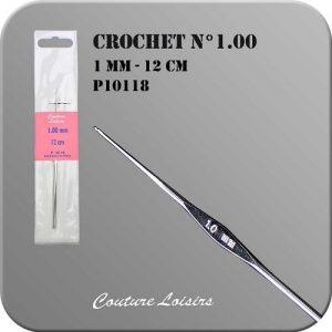 Crochet – 12cm – n°1.00