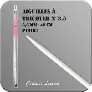 Aiguilles à tricoter – 40cm – n°3.5