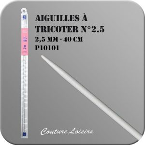 Aiguilles à tricoter – 40cm- n°2.5