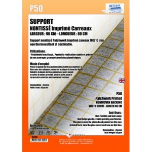 Support nonTissé carreaux 10*10mm L 80cm l 90cm