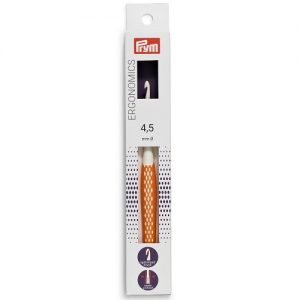 Crochet pour laine plastique Ergonomics 4,5 mm 16