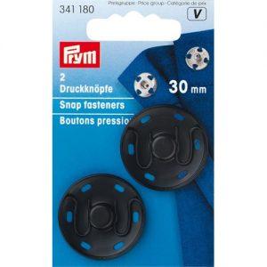 Boutons  pression a coudre  30 mm laiton noir