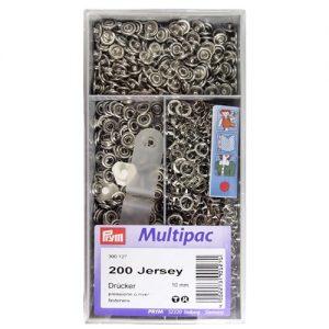 Boite 200 Boutons press. Jersey laiton 10 mm annea