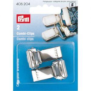 Carte 2 Clips bretelles à charnière acier 18 mm