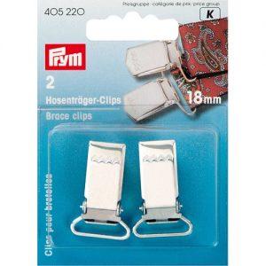 Carte 2 Clips pour bretelles à coudre 18 mm argent