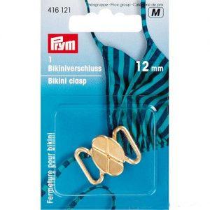 Clips pour bikinis et ceintures trèfle métal 12 mm