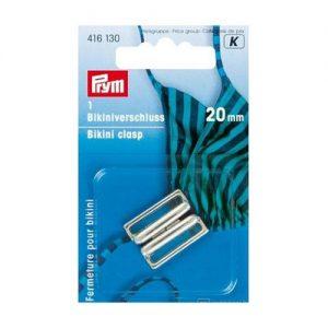Clip  pour bikini metal 20 mm argent