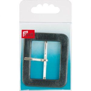 Boucle de ceinture 40 mm imitation cuir noir