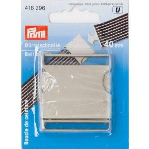 Boucle de ceinture 40 mm argent mat