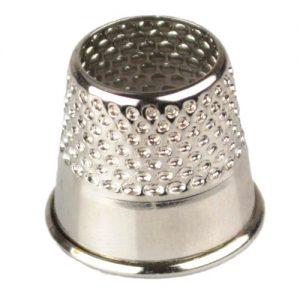 Dé ouvert acier argent 17 mm