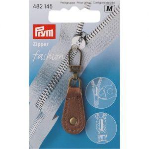 Tirette Fashion-Zipper Cuir brun