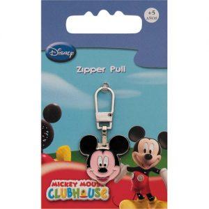 Tirette Fashion-Zipper Disney Mickey Mouse tête