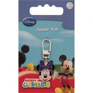 Tirette Fashion-Zipper Disney Minnie Mouse tête