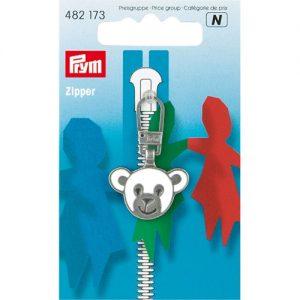 Tirette Fashion-Zipper pour enfants Ourson blanc/a