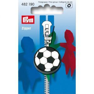 Tirette Fashion-Zipper pour enfants Football noir/