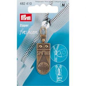Tirette Fashion-Zipper Sportstar laiton antique