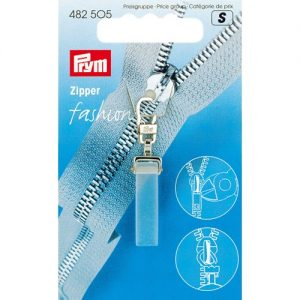 Tirette Fashion-Zipper Crystal transparent mat