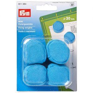 Poids à maintenir 30 mm bleu (lot de 4)