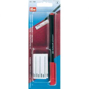 Crayon marqueur rouge + 24 etiquettes