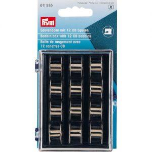 Boîte de rangement avec 12 canettes CB en métal