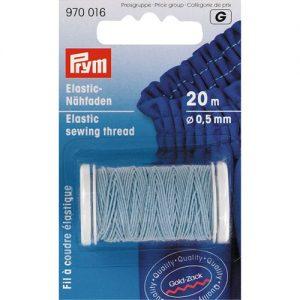 Carte 20m Fil à coudre élastique 0,5 mm bleu clair
