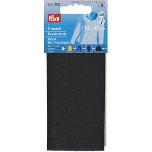 Piece  thermocollante coton noir 12*45 cm