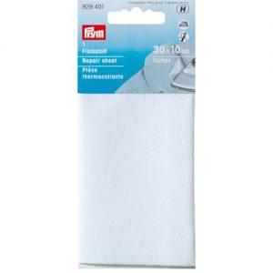 Piece  thermocollante coton  blanc 12*45 cm