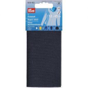 Piece  thermocollante coton  bleu marine 12*45 cm