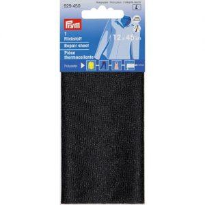 Piece  thermocollante polyester  noir 12*45 cm