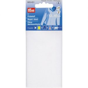 Piece  thermocollante polyester blanc 12*45 cm